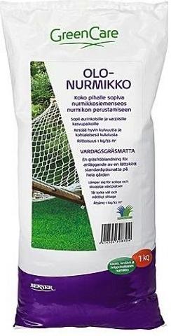 GreenCare 1kg nurmikkosiemenseos
