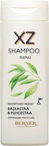 Xz 250Ml Teepuu Shampoo Rasvoittuville Hiuksille
