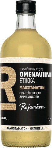 Rajamäen 0,5L Pastöroimaton Omenaviinietikka Maustamaton