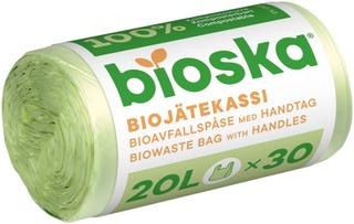 Sanka-Bioska 30Kpl Natural 410X560x0.015 20L Biojätekassi