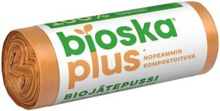 Bioska+ 15Kpl Ruskea 375X450 10L Biojätepussi