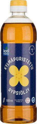 Kotimaista 500Ml Kylmäpuristettu Rypsiöljy