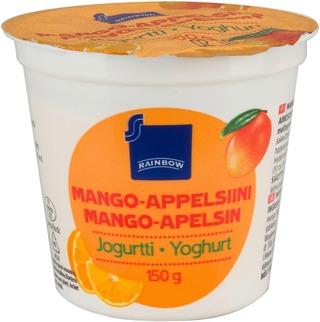 Rainbow 150 G Mango-Appelsiini Jogurtti