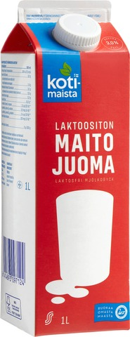 Kotimaista Laktoositon Maitojuoma 3% 1L
