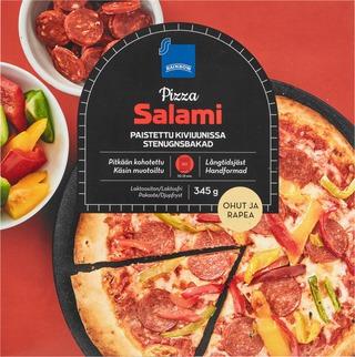 Rainbow 345G Salamipizza Vähälaktoosinen, Pakaste