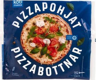 Kotimaista Pizzapohja 4Kpl/360G Pakaste Esipaistettu Pizzapohja