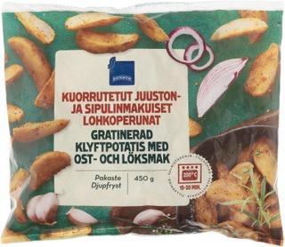 Rainbow Kuorrutetut lohkoperunat, juusto-sipuli 450 g