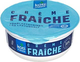 Kotimaista Creme Fraiche 18 % 150G Vähälaktoosinen