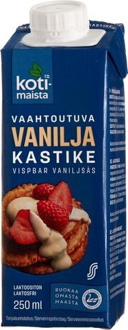 Kotimaista laktoositon vaahtoutuva vaniljakastike 250ml
