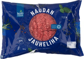 Kotimaista Naudan jauheliha 10% 700g