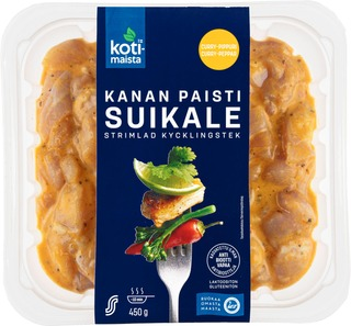 Kotimaista kanan paistisuikale curry-pippuri 450g