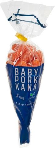 Kotimaista 250g suomalaiset babyporkkanat