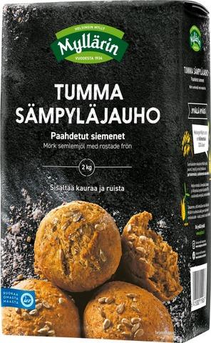 Myllärin Sämpyläjauho Tumma-Paahdetut Siemenet 2 Kg