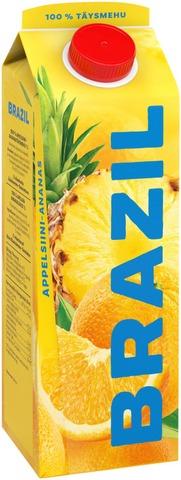 Brazil 1L appelsiini-ananastäysmehu 100% 1L