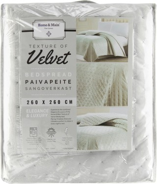 Home & Main Päiväpeite Velvet 260X260 Cm
