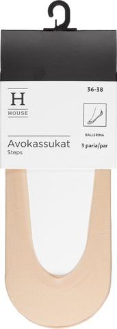House Naisten Avokkassukat 3-Paria Bonded-Siliconreunus C002