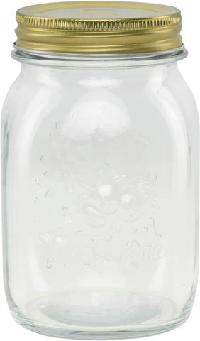 Lasipurkki kierrekannella 0,5 l