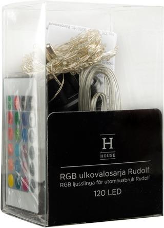 House Rgb Ulkovalosarja Rudolf 120 Led Ip44
