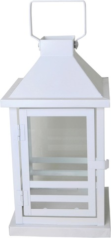House Lyhty Anja 16X16x30cm Valkoinen Raita