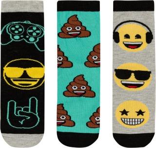 Emoji Lasten Nilkkasukat Ej90162-3 3-Pack