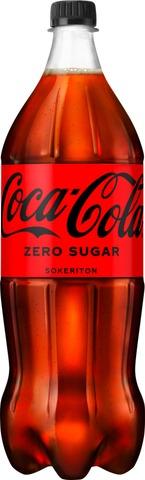 Coca-Cola Zero Sugar sokeriton virvoitusjuoma muovipullo 1,5 L