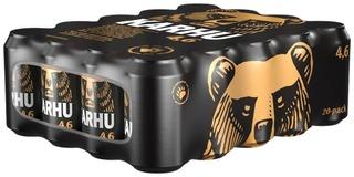 1X 20-Pack Karhu Lager Olut 4,6% Tölkki 0,33 L