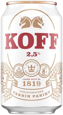 Koff Gluteeniton Lager olut 2,5 % 0,33 L tölkki