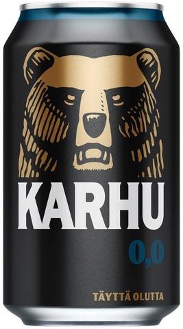 Karhu Alkoholiton Lager Olut 0,0% Tölkki 0,33 L