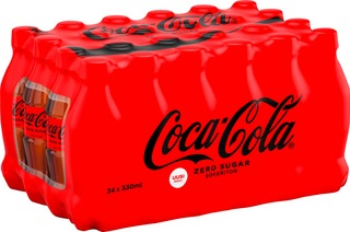 24-Pack Coca-Cola Zero Sugar Virvoitusjuoma Muovipullo 0,33 L