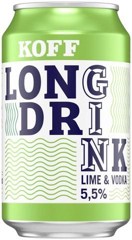 Koff Long Drink Lime  5,5 % Tölkki 0,33 L