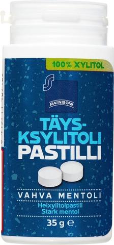 Rainbow 35G Täysksylitolipastilli Vahva Mentoli