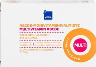 Rainbow 240G Moniviitamiiniporetabletti 3X20kpl Appelsiininmakuinen