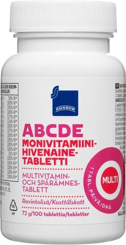 Rainbow 72g monivitamiini-hivenainetabletti 100kpl