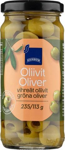 Rainbow 235/113G Kivettömät Vihreät Oliivit