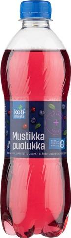 Kotimaista 0,5L Mustikka-Puolukka C + Zn Hiilihapotettu Juoma