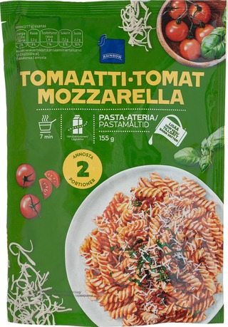 Rainbow 155G Tomaatti-Mozzarella Pasta-Ateria, Vähälaktoosinen