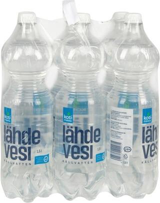 6 X Kotimaista Lähdevesi 1,5L