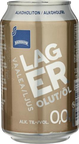 Rainbow Alkoholiton 0,0% Vaalea Lager Olut 33Cl Tlk