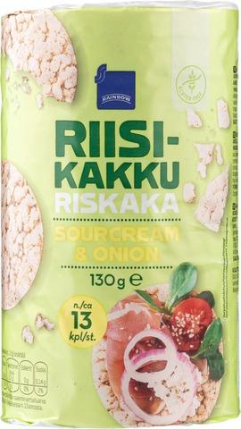 Rainbow Riisikakku sourcream & onion 120 g