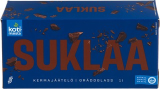 Kotimaista 1Lt / 489G Jäätelö Kotipakkaus Suklaa