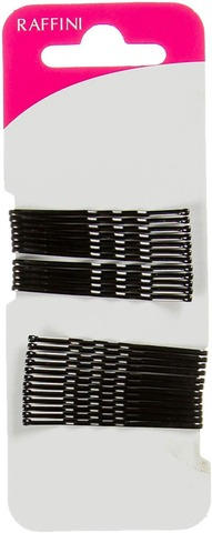 Raffini hiuspinni musta 48mm 24kpl