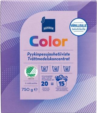 Rainbow Color Pyykinpesujauhetiiviste 750 G