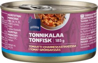 Tonnikalaa Tomaatti-Vihanneskastikkeessa
