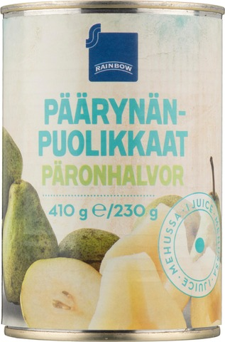 Päärynänpuolikkaat Mehussa