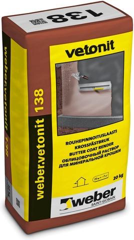 Weber Vetonit 138 Rouhepinnoituslaasti Tummanharmaa 20 Kg