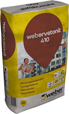 Weber Vetonit 410 Ohutrappauslaasti 25 Kg