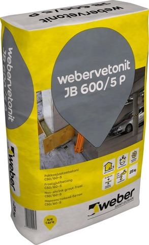Weber vetonit JB 600/5 P Pakkasjuotosbetoni 25 kg