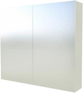 Indoor Suvas 80Cm Valkoinen Peilikaappi 2-Puoleisilla Peiliovilla