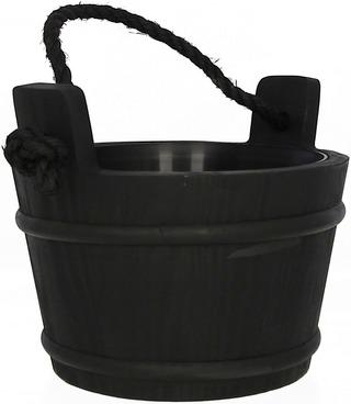 Pinetta saunasanko 4l narukahvalla musta