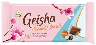 Fazer Geisha Caramel & Sea Salt Suklaalevy 121G
